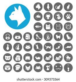 Cat icons set. Illustration EPS10