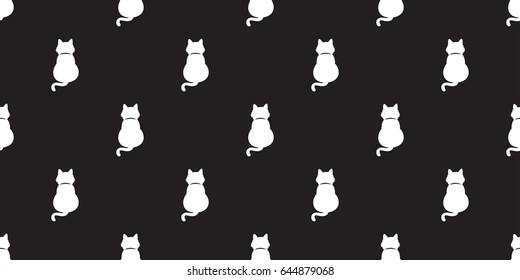 Black Cat Kitten Cat Tail Full Stock Vector Royalty Free 641368837