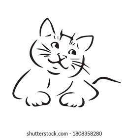 Cat Line Drawing Images and Stock Photos & Vectors