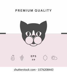 Cat - logo, protect sign icon. Graphic elements for your design