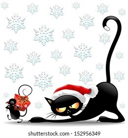 Cat mouse game images stock photos vectors shutterstock cat and mouse cartoon funny christmas santa claus spiritdancerdesigns Gallery