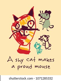 Cat and mouse poster sign.