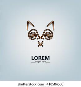 Cat outline logo. Vector design elements, business signs. Cat line art logo. Abstract cat logo. Cat luxury logo. Wild cat logo. Line art cat vector logo. Minimalistic cat logo. Cat geometric logo.