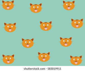 cat pattern and background vector