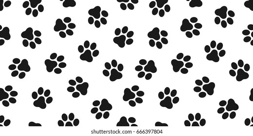 Cat Paw Dog Paw kitten vector Seamless Pattern wallpaper background