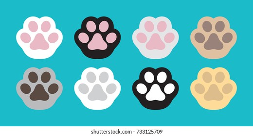 Cat Paw Dog Paw vector icon illustration