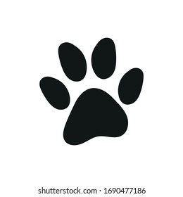 Cat paw print basic vector