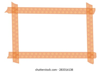 Cat paw washi tape frame