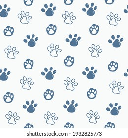 Cat paws seamless pattern background wallpaper illustration