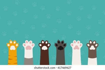 https://image.shutterstock.com/image-vector/cat-paws-wallpaper-legs-dog-260nw-417469627.jpg