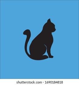 cat, pet vector icon.animal, cute,kitten, domestic, kitty, happy, feline, adorable, funny symbol isolated
