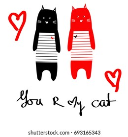 cat red cat black pattern you are my cat