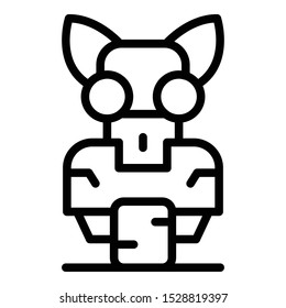 Cat robot icon. Outline cat robot vector icon for web design isolated on white background