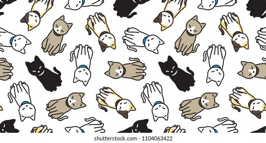 35de27510ba cat seamless pattern kitten vector scarf isolated background repeat  wallpaper cartoon