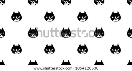 Cat Seamless Pattern Vector Kitten Calico Halloween Isolated Wallpaper Background Doodle