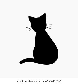 Cat shape icon. Vector illustration