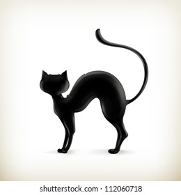 Cat silhouette, vector