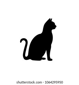 cat silhouette vector black isolated on white background