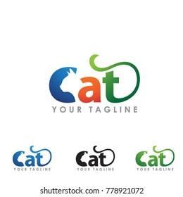 cat smart logo template