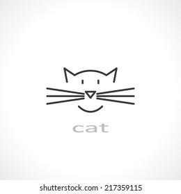 cat symbol. vector eps8