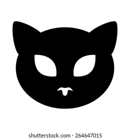 Cat. Vector icon.