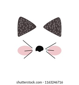 cat, cat  vector icon, funny cat face, cat T-shirt graphics ,cute cartoon characters, cute graphics for kids, Book illustrations, textile graphic