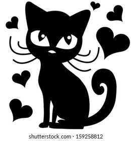 black and white cat characters black cat cartoon images, stock photos & vectors | shutterstock