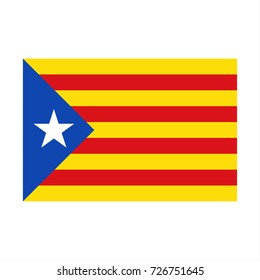 Catalan flag, Catalonia, simple vector illustration of the Catalan flag isolated on a white background