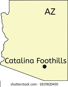 Catalina Foothills census-designated place location on Arizona map