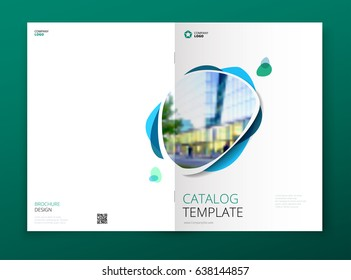 Catalog cover design. Corporate business brochure, annual report, catalogue, magazine template layout concept.