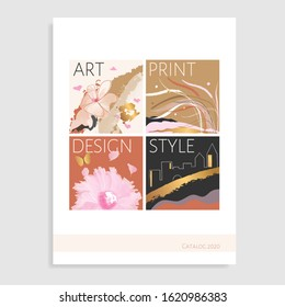 Catalog design gold. Vector illustration.