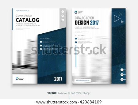 catalog design layout design corporate business stock vector
