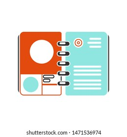catalog icon. flat illustration of catalog - vector icon. catalog sign symbol