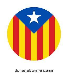 catalonia flag. catalan logo vector.