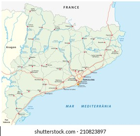 Catalonia Map Images Stock Photos Vectors Shutterstock