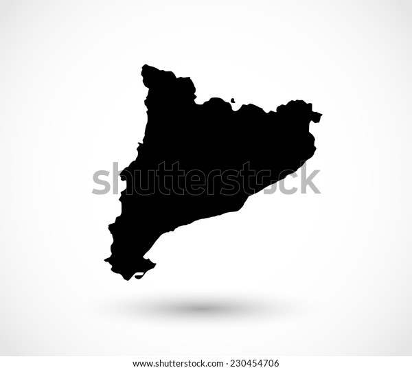 Catalonia shape vector
