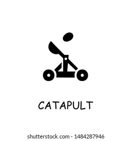 Catapult flat vector icon. Hand drawn style design illustrations.