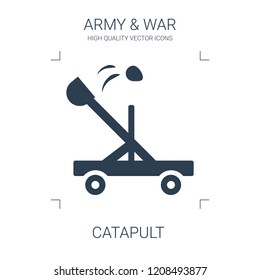 catapult icon. high quality filled catapult icon on white background. from war collection flat trendy vector catapult symbol. use for web and mobile