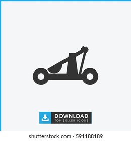 catapult icon. Simple filled catapult vector icon. On white background.