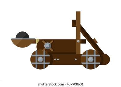 Catapult Illustration Profile Vector Graphic