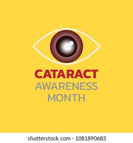 Cataract Awareness Month. Vector illustration.