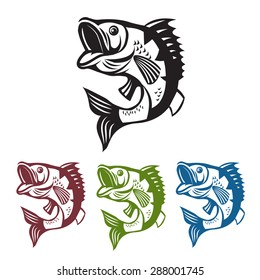 Bass fish icon images stock photos vectors shutterstock catching bass fish vector fish color graphic fish on a white background bass fishing saigontimesfo