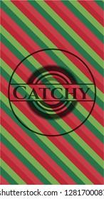 Catchy christmas emblem.
