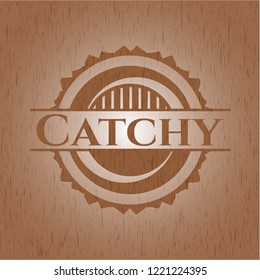 Catchy wood emblem. Vintage.