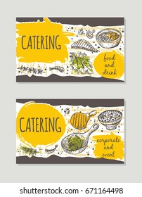catering logo icon label your design stock vector royalty free