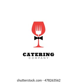 Catering company logo template design. Vector illustration.