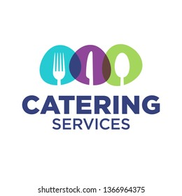 Catering company logo template vector