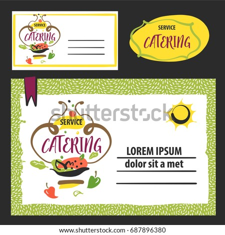 catering service template banner logo stock vector royalty free