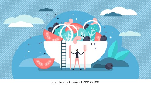 Catering vector illustration. Flat tiny food industry work persons concept. Restaurant, cafe and other gourmet eatery profession occupation. Culinary gastronomy company serving buffet or banquet dish.