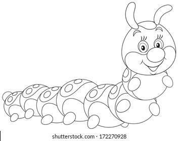 c38386c1d3d Caterpillar Outline Images, Stock Photos & Vectors | Shutterstock